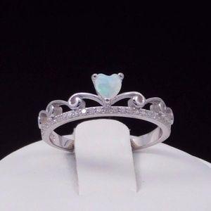 Jewelry - Tiara Princess White Opal Ring 925 Silver N.W.T.